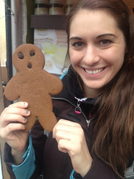 Yummy gingerbread man.