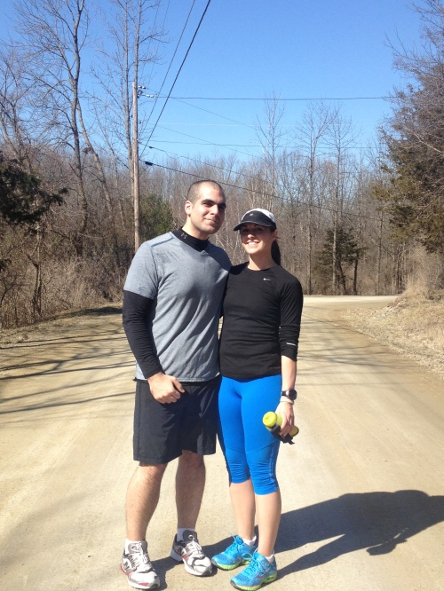 Karl and I post run.